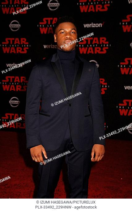 "John Boyega 12/09/2017 The World Premiere of Lucasfilm's """"Star Wars: The Last Jedi"""" held at Shrine Auditorium in Los Angeles"