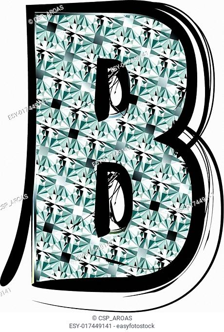 Diamond Font letter B