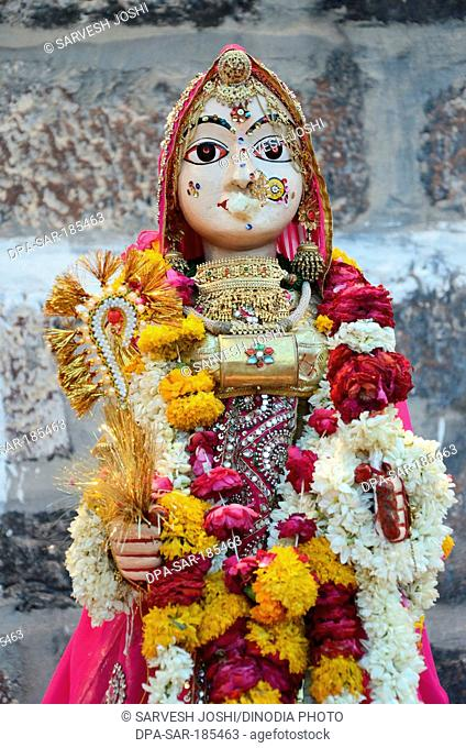 wooden idol of Gangaur in Jodhpur at Rajasthan India