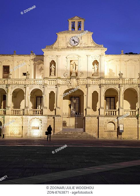 Bishops Palace on Piazza del Duomo, Lecce, Puglia, Italy