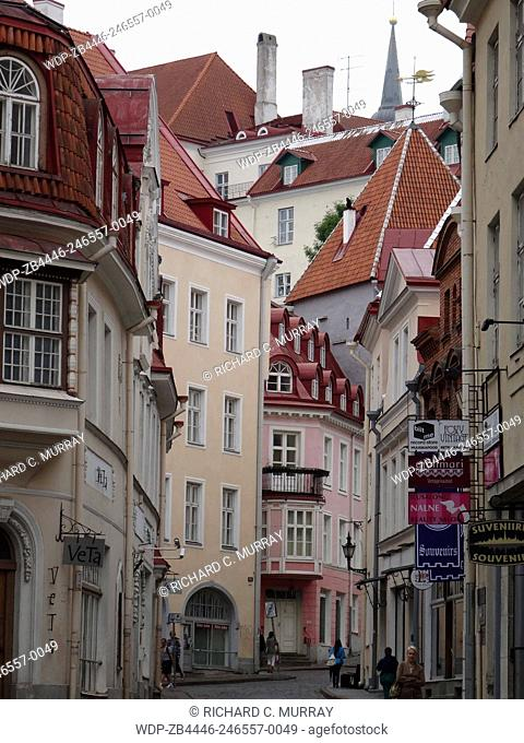 Old Medieval Town Tallinn Viru Street-Tallinn, Estonia