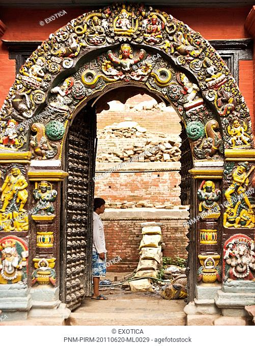 Entrance of a temple, Hanuman Dhoka, Durbar Square, Kathmandu, Nepal