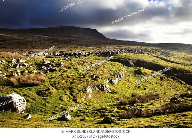 Pen Y Ghent from Horton Scar Lane Horton in Ribblesdale North Yorkshire England