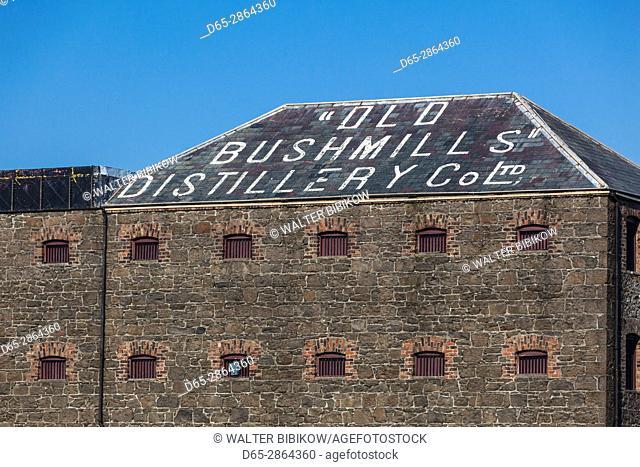 UK, Northern Ireland, County Antrim, Bushmills, Old Bushmills Distillery, world's oldest legal whiskey distillery, since 1608