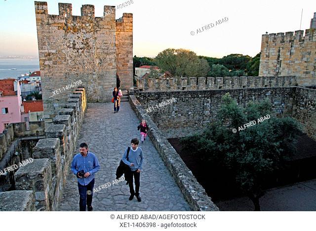 Wall, Castelo de Sao Jorge, Lisboa