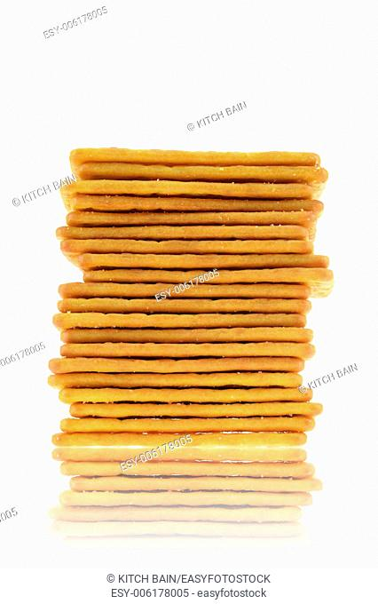 A copse up shot of savoury crackers