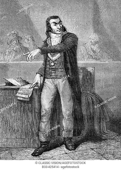 Antoine Quentin Fouquier-Tinville, 1746-95. French revolutionary. Lawyer and public prosecutor (March 1793-July 1794) of the Revolutionary Tribunal