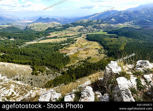 Hills and mountains near Mormanno, Calabria, Italy