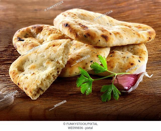 Garlic and coriander Indian Naan Bread