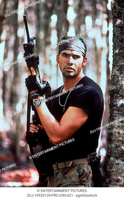 RELEASE DATE: 29 January 1993. MOVIE TITLE: Sniper. STUDIO: Baltimore Pictures. PLOT: Tough guy Thomas Beckett is an US soldier working in the Panamanian jungle
