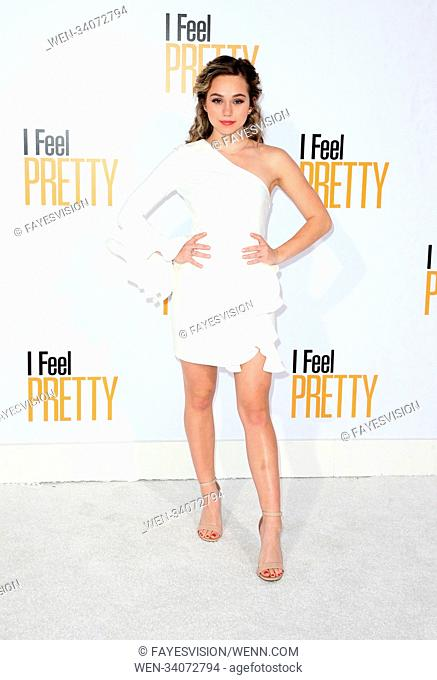"Premiere Of STX Films' """"I Feel Pretty"""" Featuring: Brec Bassinger Where: Westwood, California, United States When: 17 Apr 2018 Credit: FayesVision/WENN"