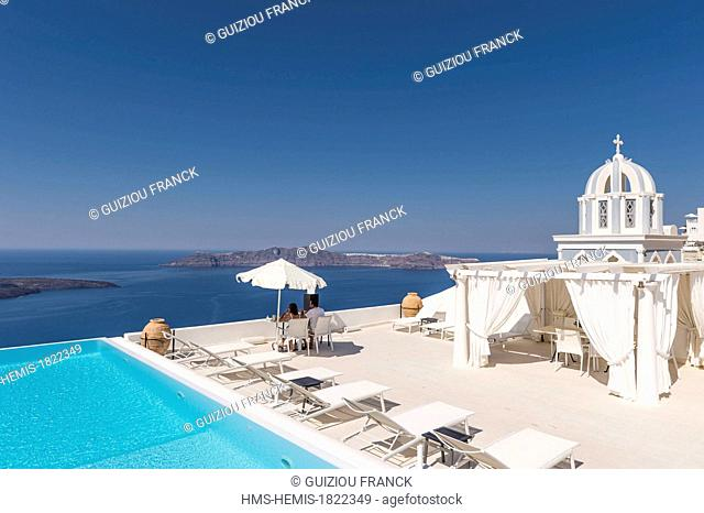 Greece, Cyclades Islands, Santorini Island (Thira), Firostefani, the Consular Agency of France