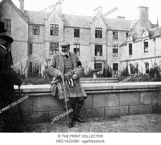 King Edward VII (1841-1910) at Balmoral, Scotland, 1908. From Queen Alexandra's Christmas Gift Book, Photographs from My Camera, by Queen Alexandra