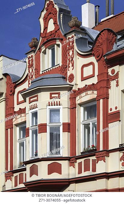 Czech Republic, Moravia, Mikulov, historic architecture, detail,
