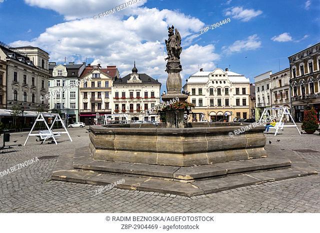 Townhouses on main square, Cieszyn, Poland