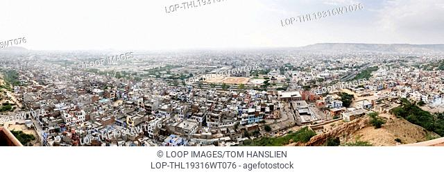 View from Surya Mandir also referred to as the Temple Of The Sun God in Jaipur