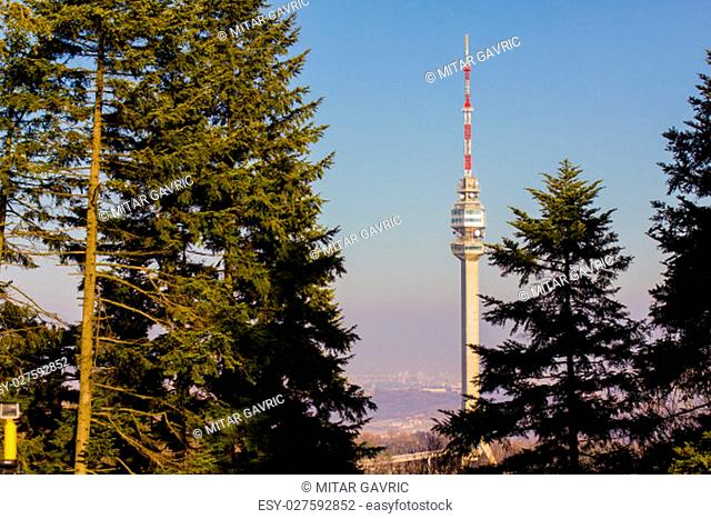 TV tower and a lookout on Mount Avala near Belgrade, Serbia