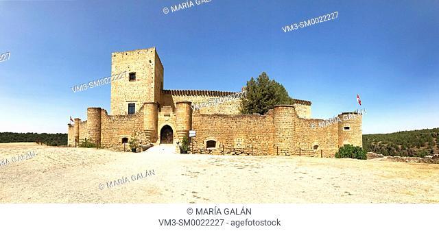 Medieval castle, panoramic view. Pedraza, Segovia province, Castilla Leon, Spain