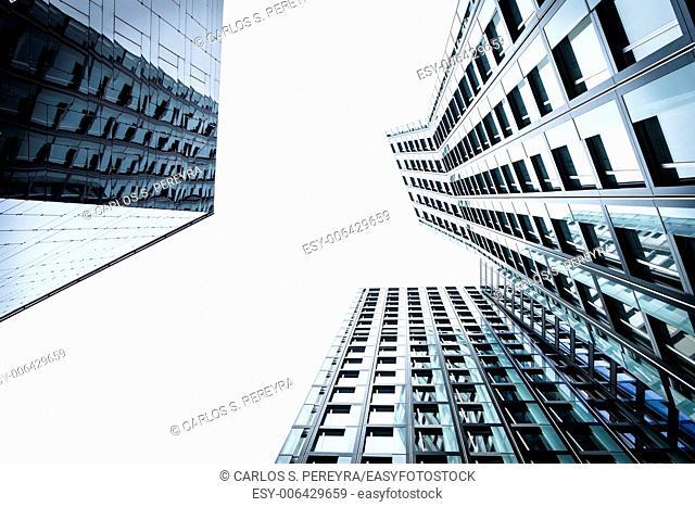 Modern architecture detail in Hamburg, Germany