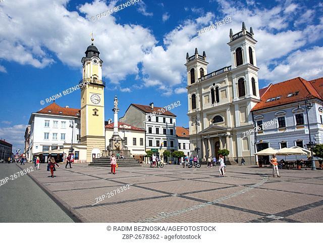 Main square in Banska Bystrica, Slovakia, Europe