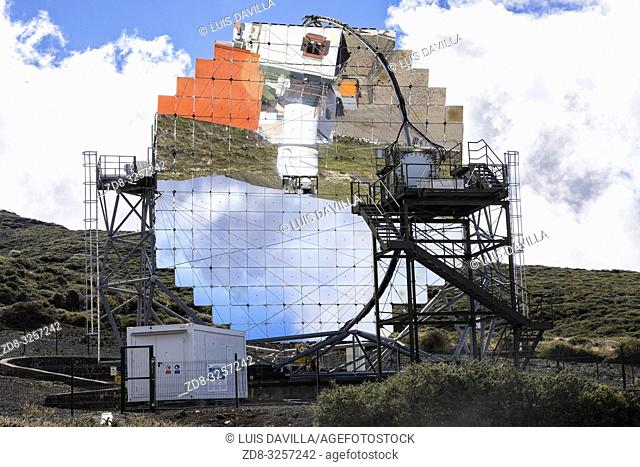 roque de los muchachos astronomical observatory. garafia. la palma. canary islands. spain