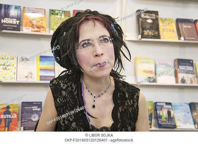 Finnish novelist, political activist and playwright Sofi Oksanen presented her works during the 24th International Book Fair and Literary Festival Book World...