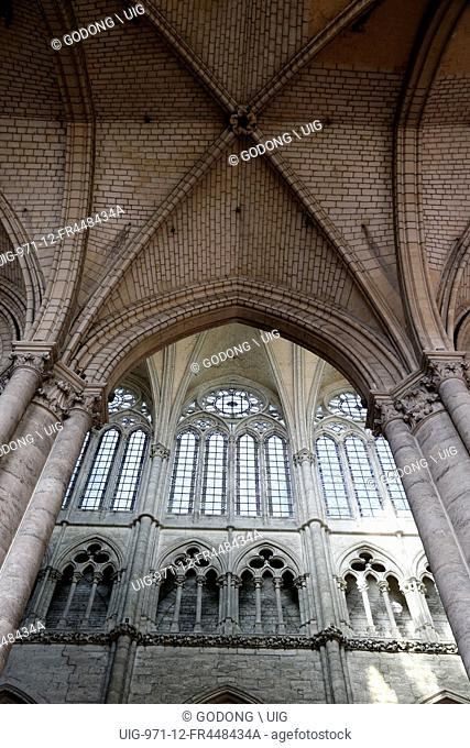 Notre-Dame d'Amiens cathedral. The nave