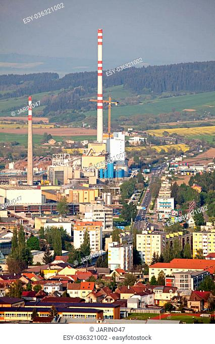 RUZOMBEROK, SLOVAKIA - MARCH 10: Factory Mondi in town Ruzomberok on March 10, 2014 in Ruzomberok