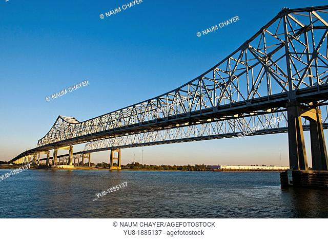 The Crescent City Connection,Greater New Orleans Bridge ,New Orleans, state of Louisiana, USA, North America