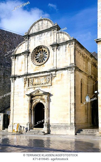 The Church of the Savior in oldtown Dubrovnik, Croatia