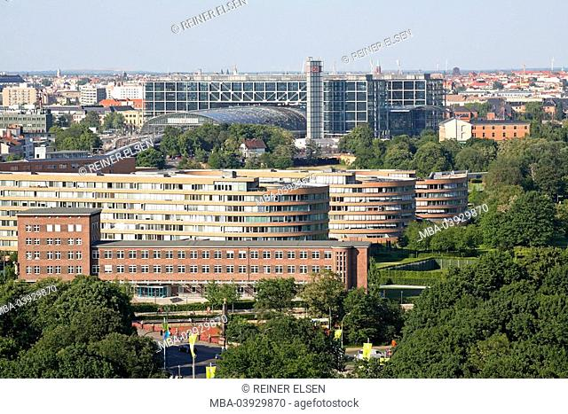 Germany, Berlin, main train station, city-overview