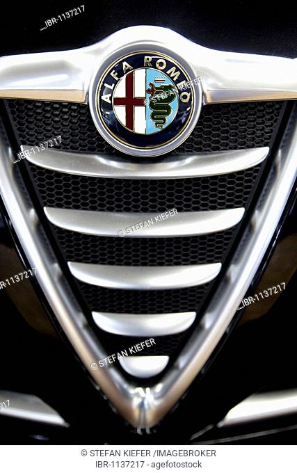 Alfa Romeo emblem on a car