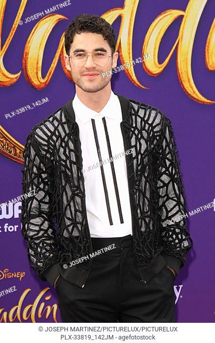 "Darren Criss at The World Premiere of Disney's """"Aladdin"""" held at El Capitan Theatre, Hollywood, CA, May 21, 2019. Photo Credit: Joseph Martinez / PictureLux"