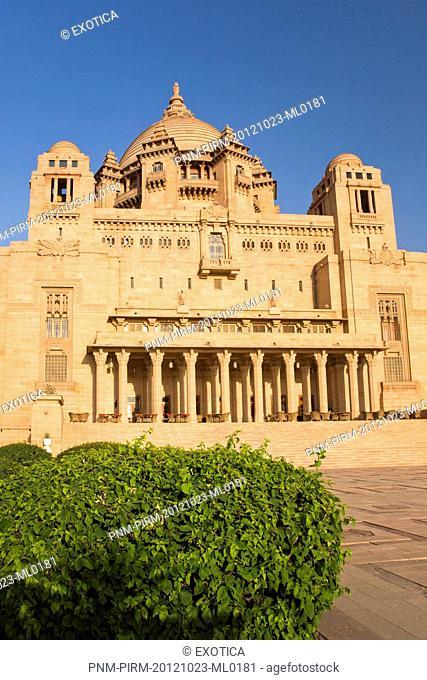 Facade of a palace, Umaid Bhawan Palace, Jodhpur, Rajasthan, India