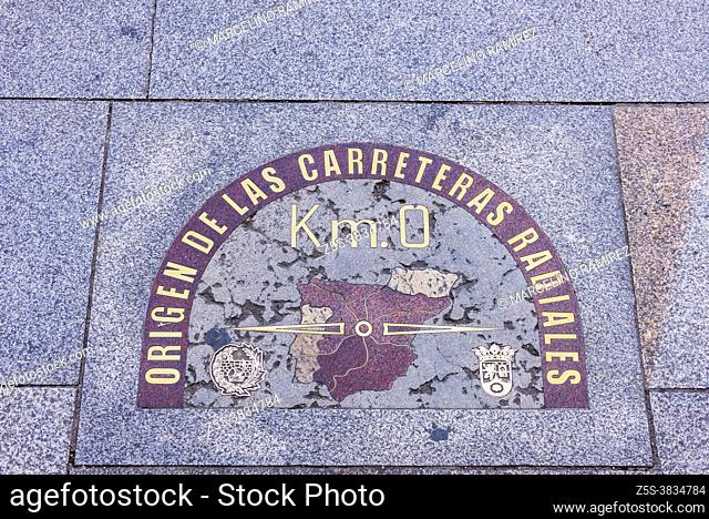 """Spain has the """"""""kilometer zero"""""""" of the radial national highways in front of the Real Casa de Correos, in the Puerta del Sol in Madrid"""
