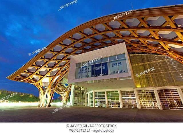 Centre Pompidou-Metz, Shigeru Ban and Jean De Gastines, Metz, Moselle, Lorraine region, France