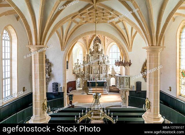 Lauenstein town church with the famous Bünau chapel