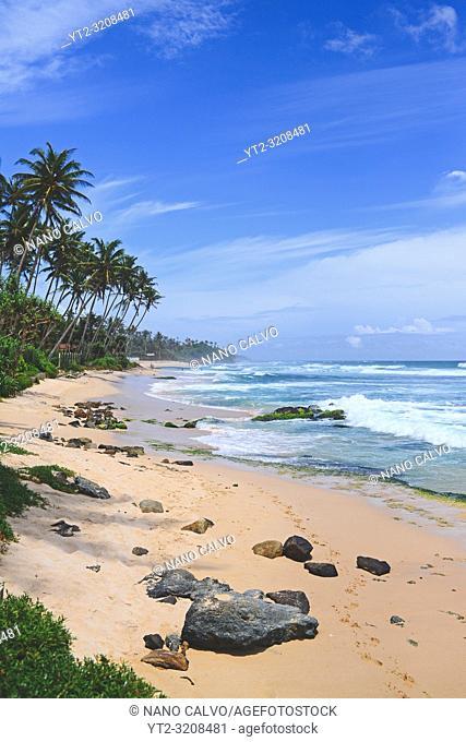 Beautiful beach in Midigama, Sri Lanka
