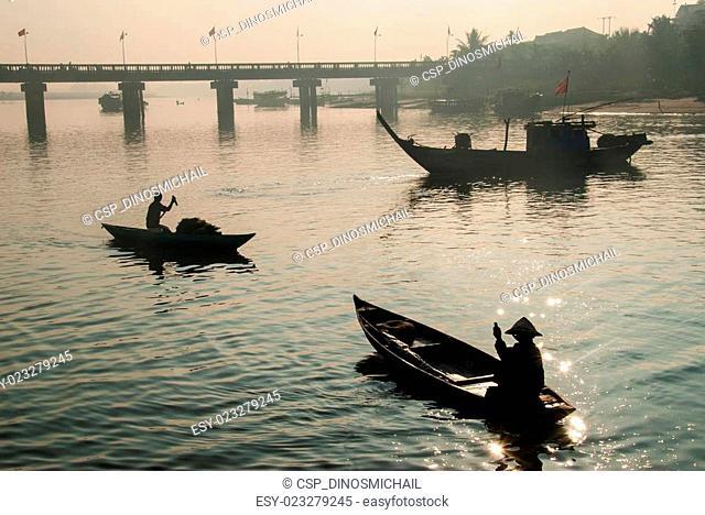 Harbor of Hoi An, Vietnam
