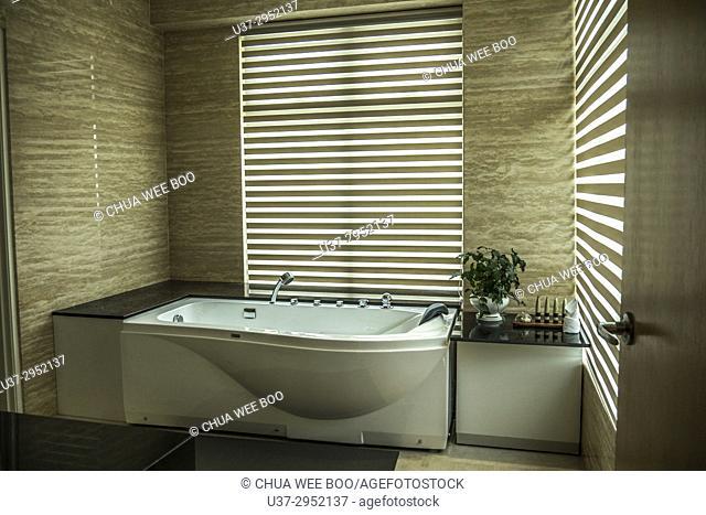 Hotel bathtub and spa, Penang, Malaysia