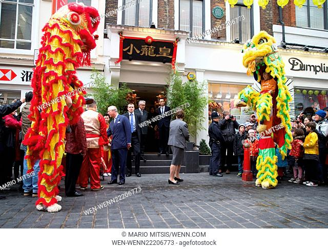 Prince Charles, Prince of Wales and Camilla, Duchess of Cornwall visit Chinatown to mark the Chinese New Year. Featuring: Prince Charles, Prince of Wales