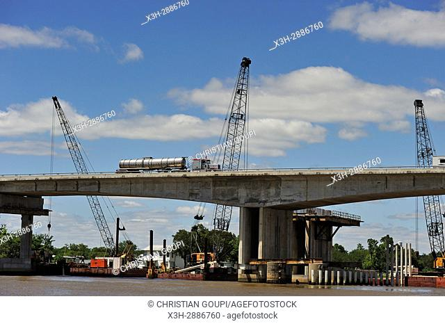 extension works of a bridge across the Neches River, Beaumont, Texas, United States of America, North America