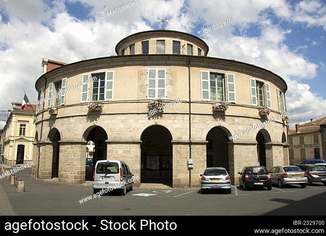 Town hall circular of Ambert. Puy de Dôme. Auvergne. France
