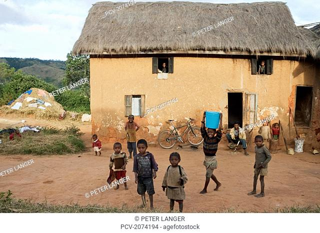 House Along The Road Between Ambositra & Ambavalao, Fianarantsoa Province, Madagascar