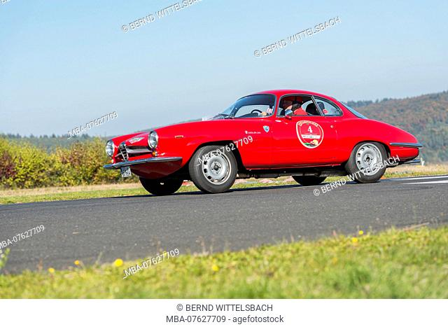 Michelstadt, Hesse, Germany, Alfa Romeo Giulia SS, year of manufacture 1963, 1600 ccm, 112 HP on the event Pista & Piloti