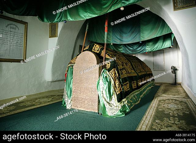 Mausoleum of Bin Ali in Mirbat. A tiny beautiful mosque containing the grave of Muhammed Bin Ali who was a descendant of Prophet Muhammad Peace Be Upon Him and...