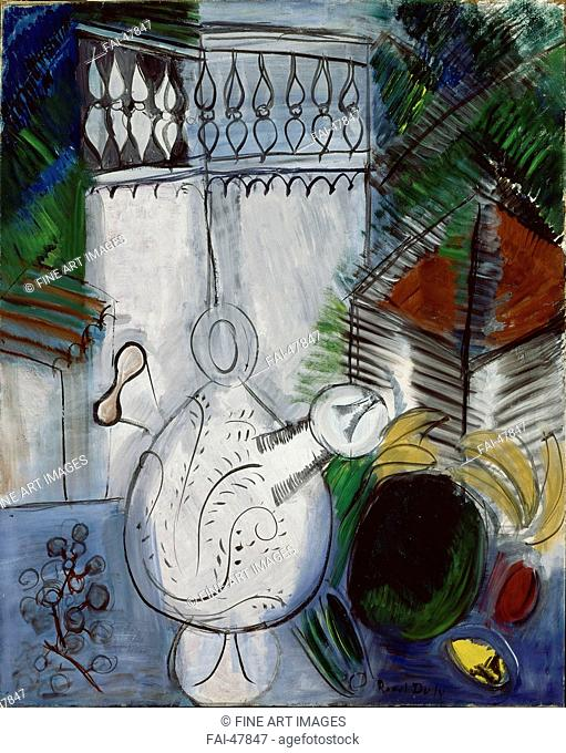 Still Life with White Tower (Nature morte à la tour blanche) by Dufy, Raoul (1877-1953)/Oil on canvas/Fauvism/1913-1947/France/Musée national d'art moderne