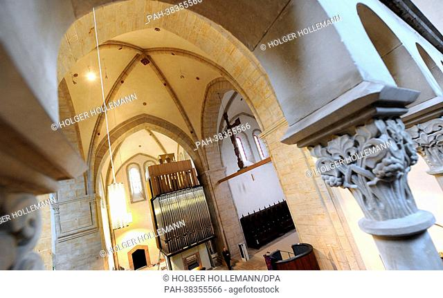 View of the new organ (C) of the monastery church in Loccum, Germany, 27 February 2013. On 21 March, the monastery celebrated its 850th anniversary