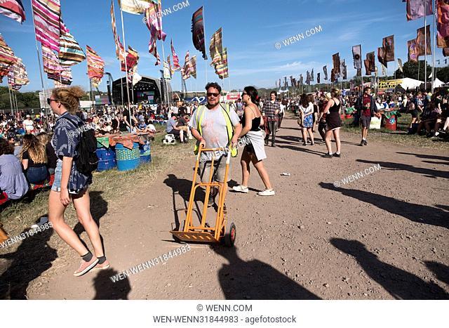Glastonbury Festival 2017 - Day 4 - Atmosphere Featuring: People, crowd Where: Glastonbury, United Kingdom When: 25 Jun 2017 Credit: WENN.com