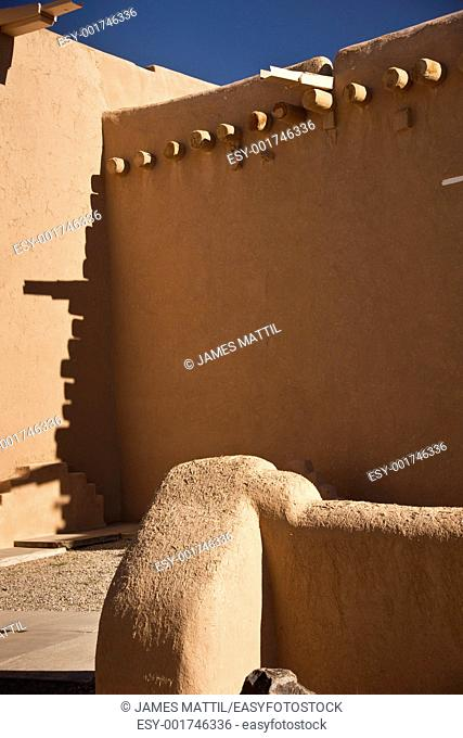 Historic adobe construction in the U S  Southwest, Taos, New Mexico